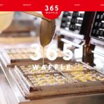 ワッフル店のホームページ制作実績(365WAFFLE様)
